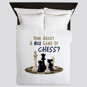 HOW ABOUT A NICE GAME OF CHESS? Queen Duvet