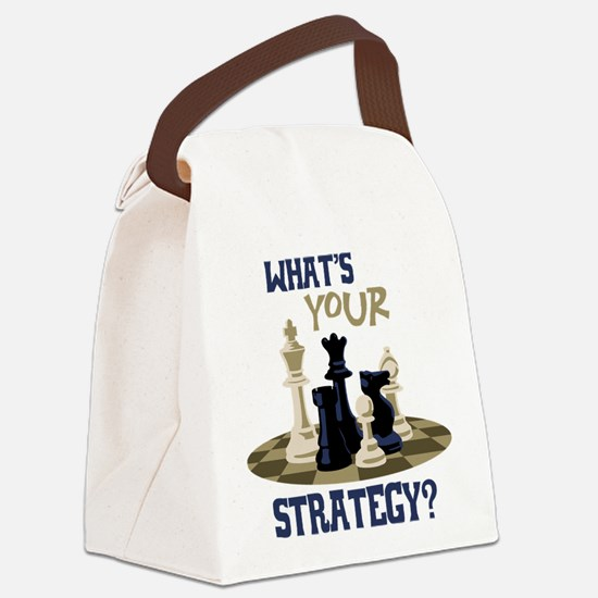 WHATS YOUR STRATEGY? Canvas Lunch Bag