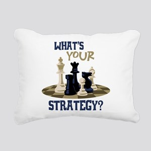 WHATS YOUR STRATEGY? Rectangular Canvas Pillow