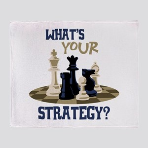 WHATS YOUR STRATEGY? Throw Blanket