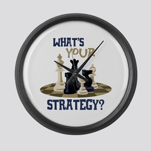 WHATS YOUR STRATEGY? Large Wall Clock
