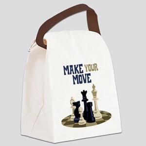 MAKE YOUR MOVE Canvas Lunch Bag
