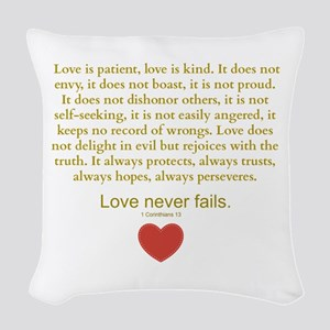 1 Corinthians 13 Woven Throw Pillow