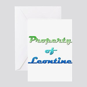 Property Of Leontine Female Greeting Cards