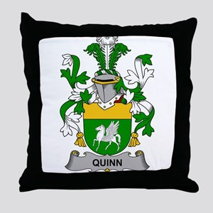 Quinn Family Crest Throw Pillow