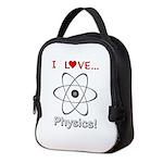 I Love Physics Neoprene Lunch Bag