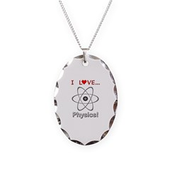 I Love Physics Necklace