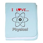 I Love Physics baby blanket