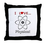 I Love Physics Throw Pillow
