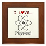I Love Physics Framed Tile