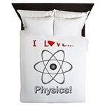 I Love Physics Queen Duvet