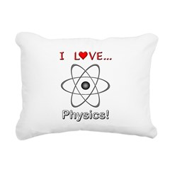 I Love Physics Rectangular Canvas Pillow