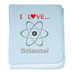 I Love Science baby blanket
