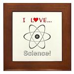 I Love Science Framed Tile
