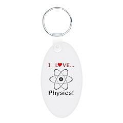 I Love Physics Keychains