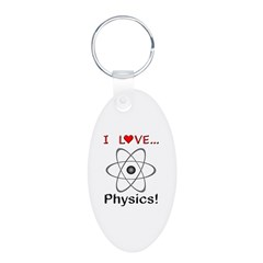 I Love Physics Keychains