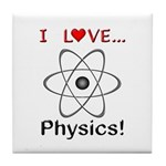 I Love Physics Tile Coaster