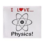I Love Physics Throw Blanket