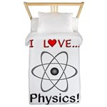 I Love Physics Twin Duvet