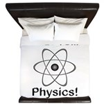 I Love Physics King Duvet