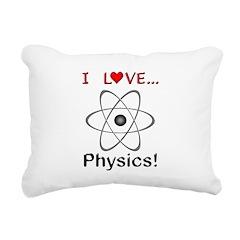 I Love Physics Rectangular Canvas Pillow