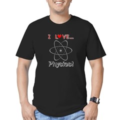 I Love Physics Men's Fitted T-Shirt (dark)