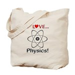I Love Physics Tote Bag