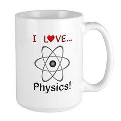 I Love Physics Large Mug