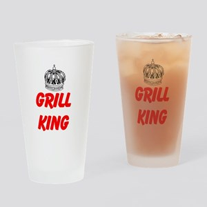 Grill King Drinking Glass