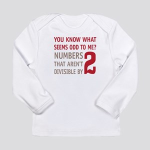 Odd Even Numbers Long Sleeve Infant T-Shirt