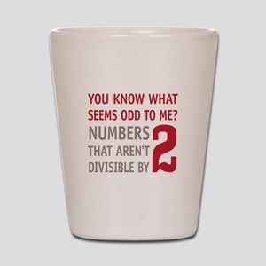 Odd Even Numbers Shot Glass