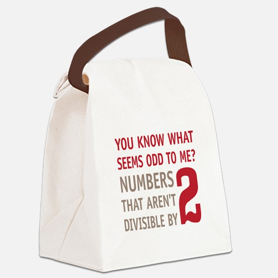 Odd Even Numbers Canvas Lunch Bag