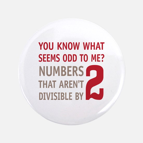 """Odd Even Numbers 3.5"""" Button (100 pack)"""