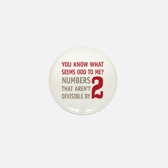 Odd Even Numbers Mini Button