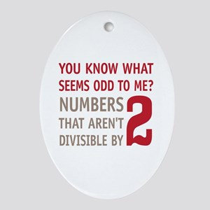 Odd Even Numbers Ornament (Oval)