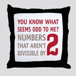 Odd Even Numbers Throw Pillow