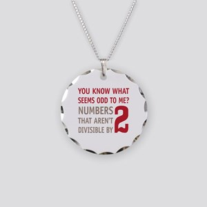 Odd Even Numbers Necklace Circle Charm