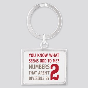 Odd Even Numbers Landscape Keychain