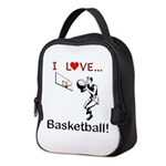 I Love Basketball Neoprene Lunch Bag