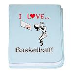 I Love Basketball baby blanket