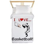 I Love Basketball Twin Duvet