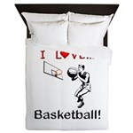 I Love Basketball Queen Duvet