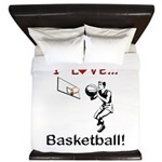 I Love Basketball King Duvet