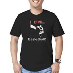 I Love Basketball Men's Fitted T-Shirt (dark)