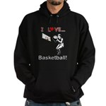 I Love Basketball Hoodie (dark)