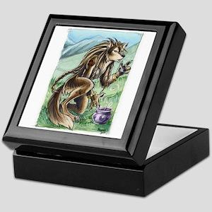 Furry Werewolf Shaman Keepsake Box