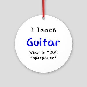 teach guitar Ornament (Round)