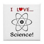 I Love Science Tile Coaster
