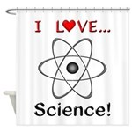 I Love Science Shower Curtain