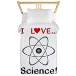 I Love Science Twin Duvet